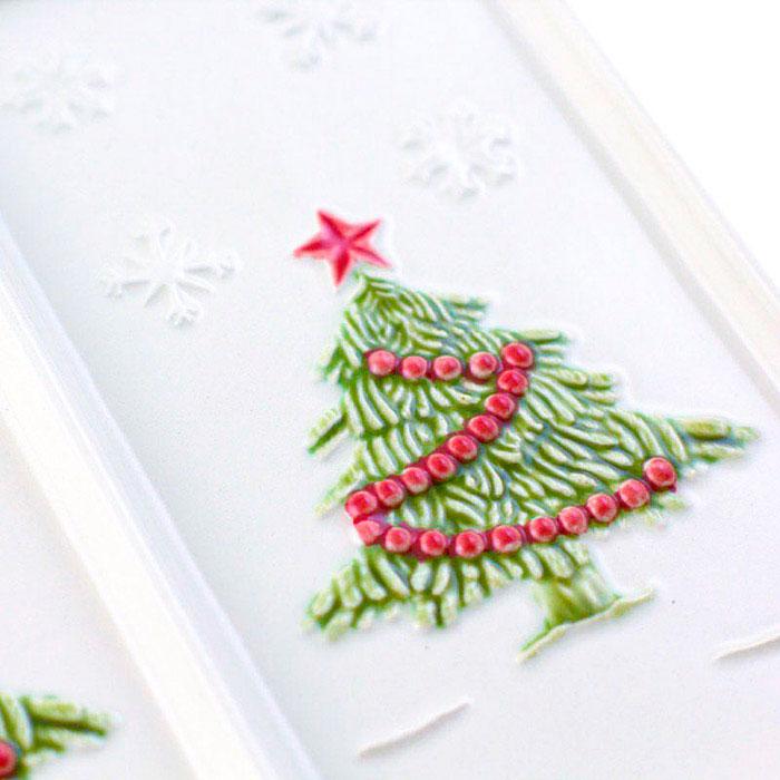Менажница Bordallo Pinheiro Рождество белого цвета