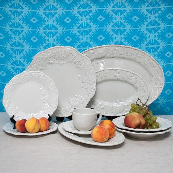 Белая подставная тарелка Bordallo Pinheiro Артишок и птица
