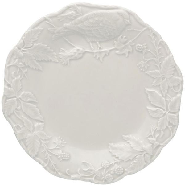 Набор из 6 тарелок Bordallo Pinheiro Артишок и птица белого цвета