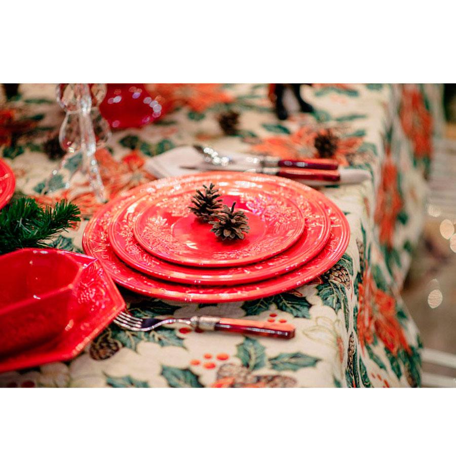 Набор новогодних тарелок на 6 персон Зима Bordallo Pinheiro 27,8см