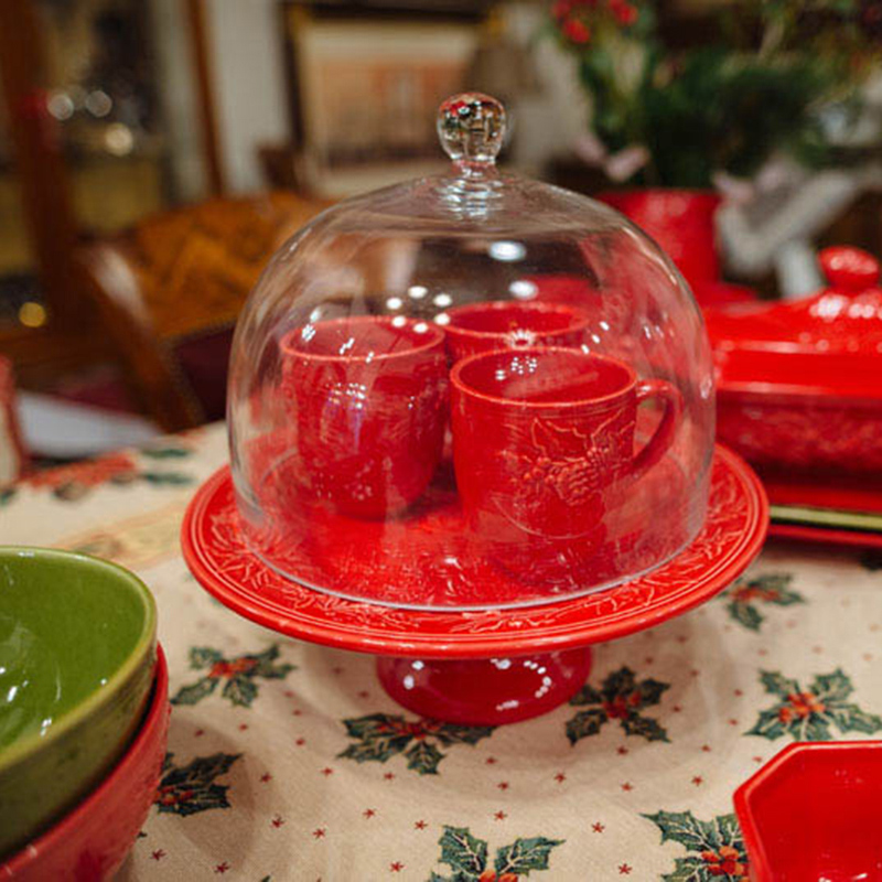 Красная чашка Bordallo Pinheiro Зима