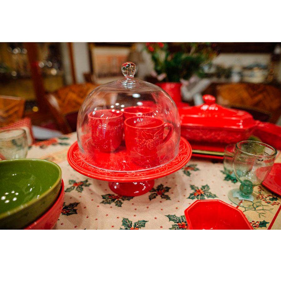 Красная тортовница Bordallo Pinheiro Зима