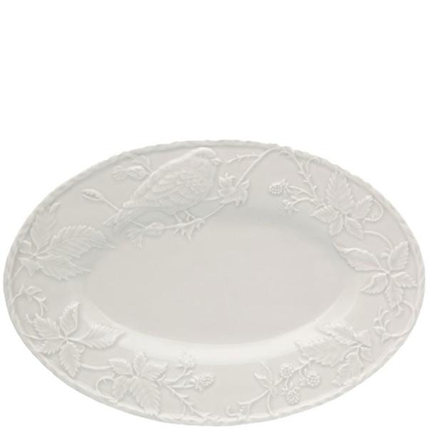 Блюдо Bordallo Pinheiro Артишок и птица белого цвета