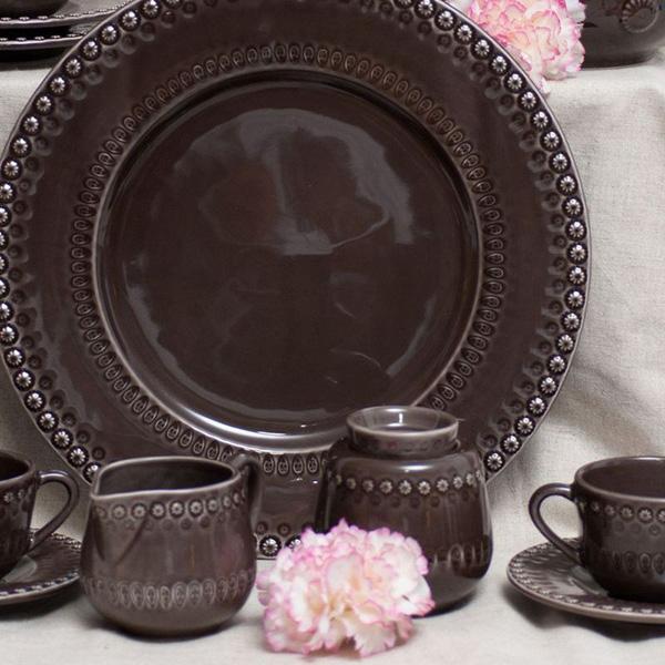 Сахарница Bordallo Pinheiro Фантазия коричневого цвета