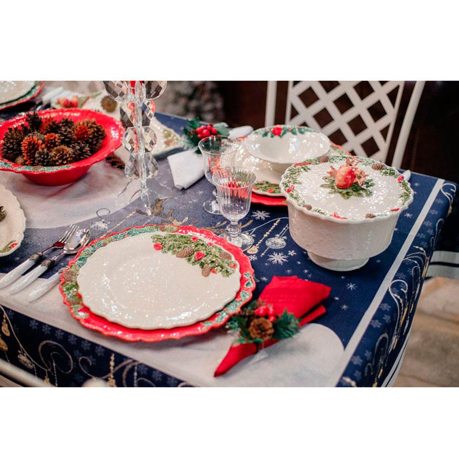 Обеденная тарелка Bordallo Pinheiro Рождественская гирлянда бежевого цвета 29,5см