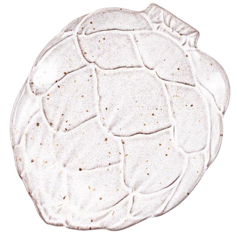 Белая тарелка для хлеба Bordallo Pinheiro Артишок 17см