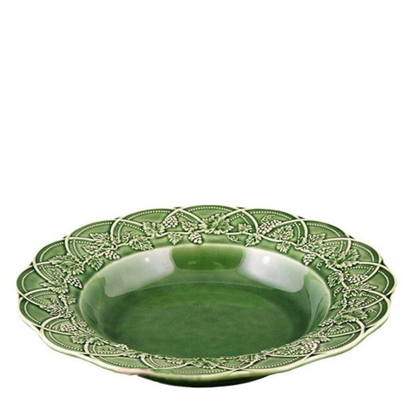 Салатник Bordallo Pinheiro Охота зеленая с узорами