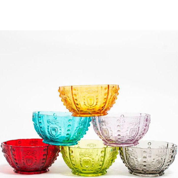 Набор пиал Livellara Rococo разных цветов