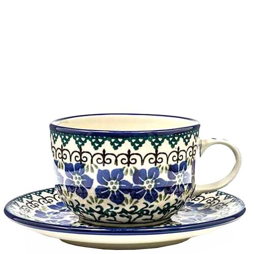 Чайная чашка с блюдцем Ceramika Artystyczna Фиалки