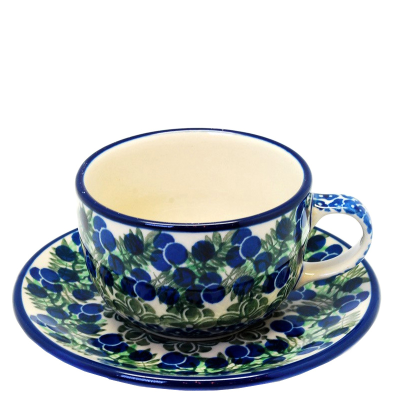 Чашка с блюдцем Ceramika Artystyczna Ягодная поляна