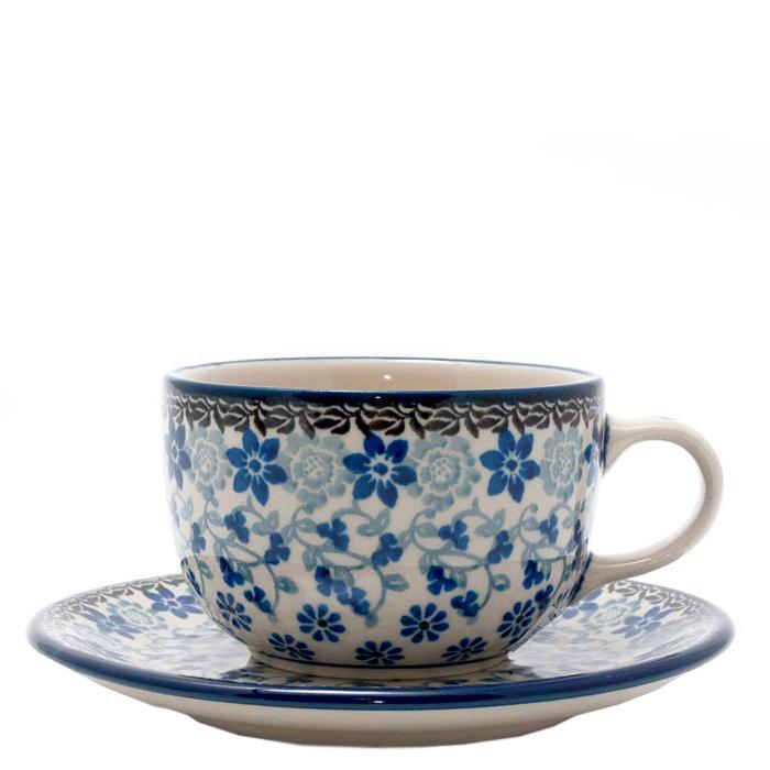 Чашка с блюдцем Ceramika Artystyczna Полевые цветы