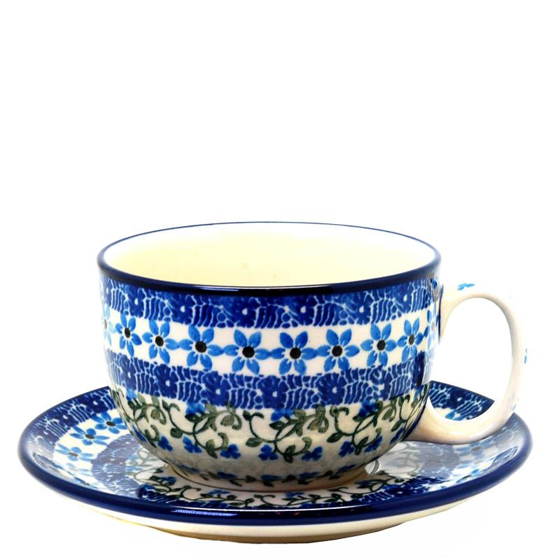 Чашка с блюдцем Ceramika Artystyczna Виноградная лоза