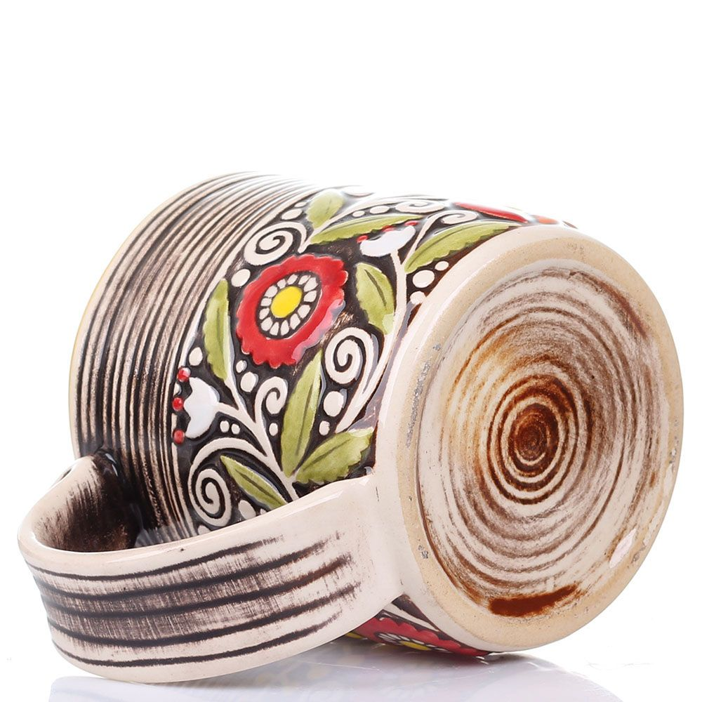 Набор из 2 кружек Manna Ceramics ручной работы коричневого цвета 400 мл
