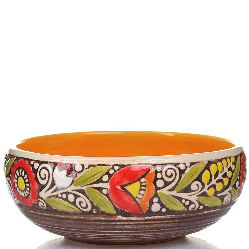 Набор из 2 пиал Manna Ceramics из керамики в теплых коричнево-оранжевых тонах 500 мл