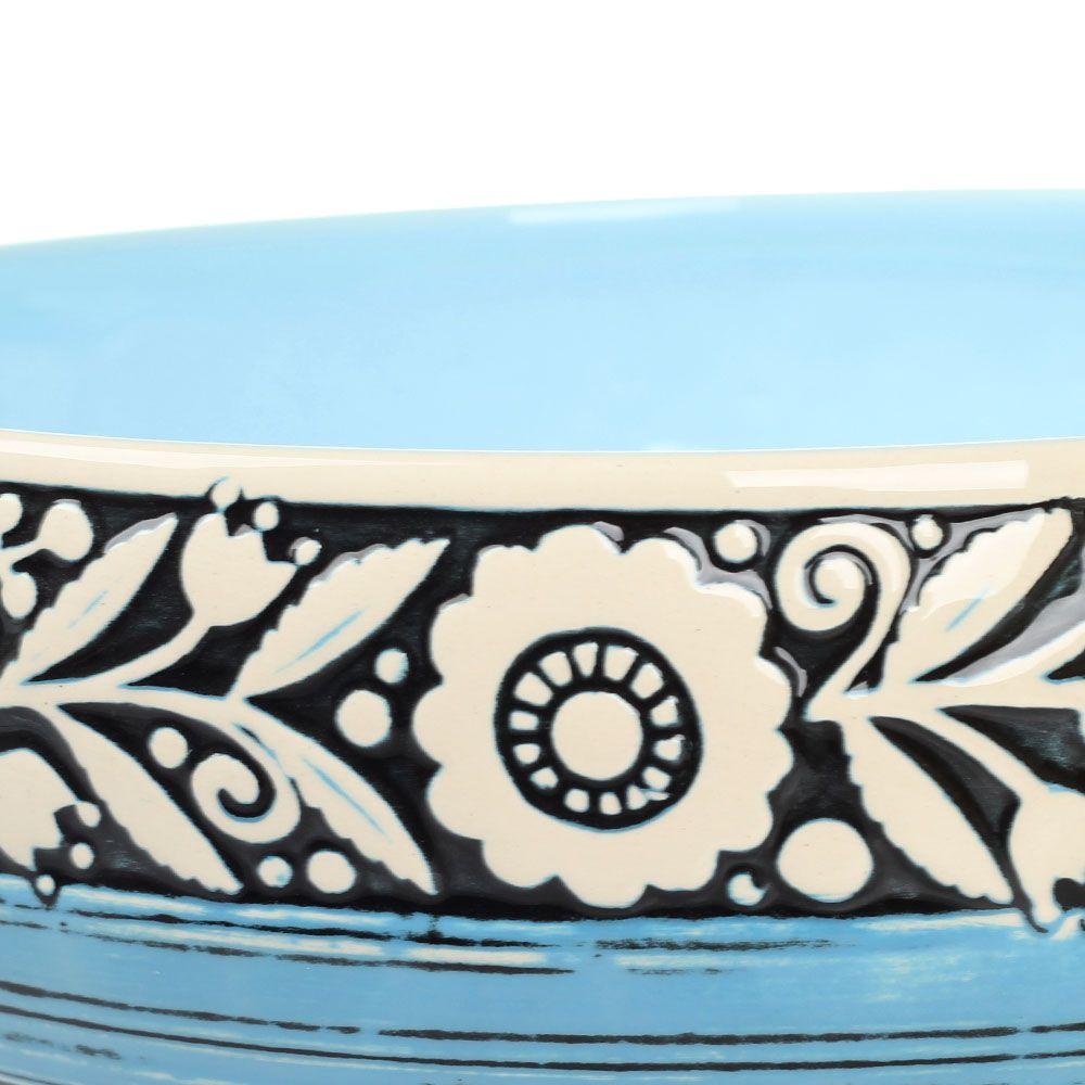 Набор из двух салатников Manna Ceramics с цветами на голубом фоне 3 л