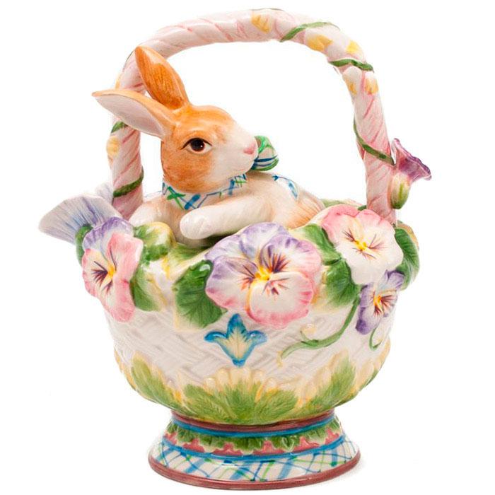 Заварник Fitz and Floyd Кролик в корзинке с цветами