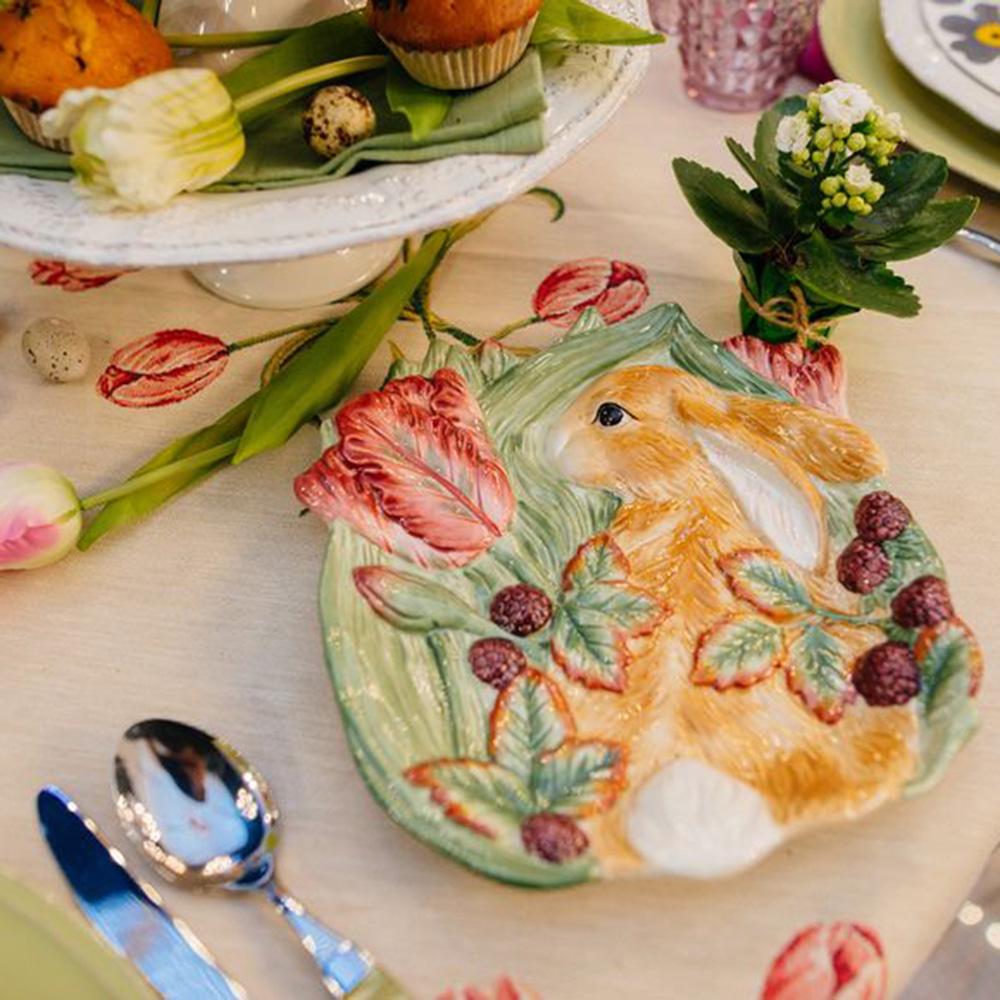 Тарелка десертная Fitz and Floyd Кролик в траве
