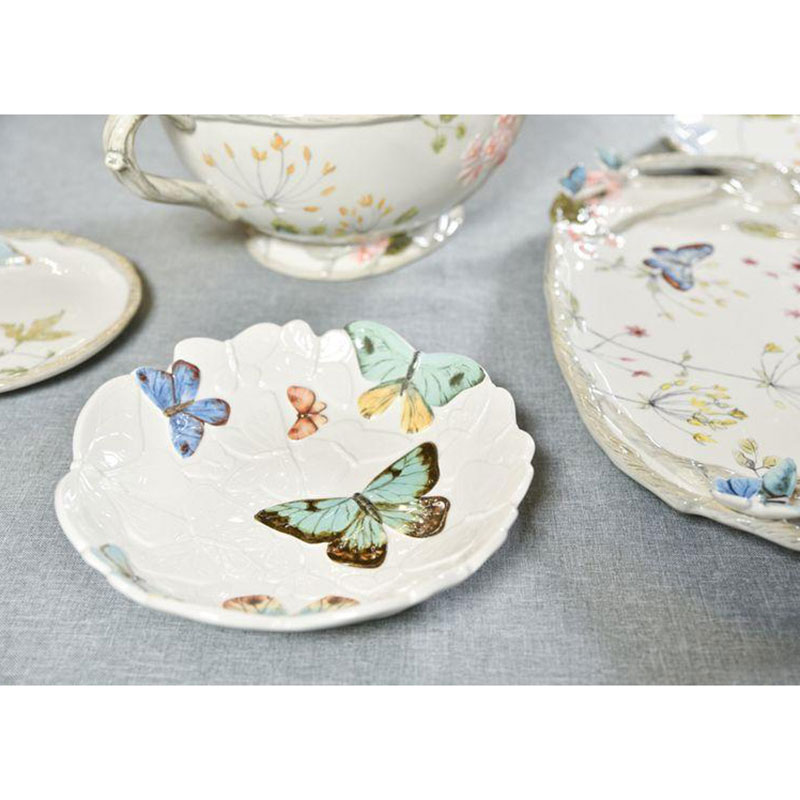 Блюдо Fitz and Floyd Butterfly fields из керамики