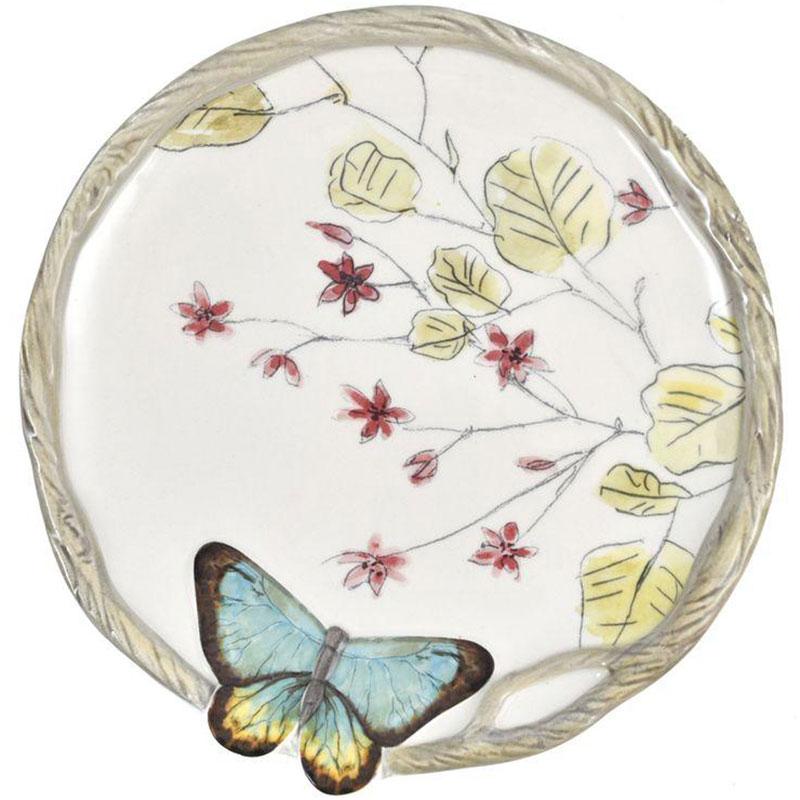 Набор десертных тарелок Fitz and Floyd Butterfly fields 4шт