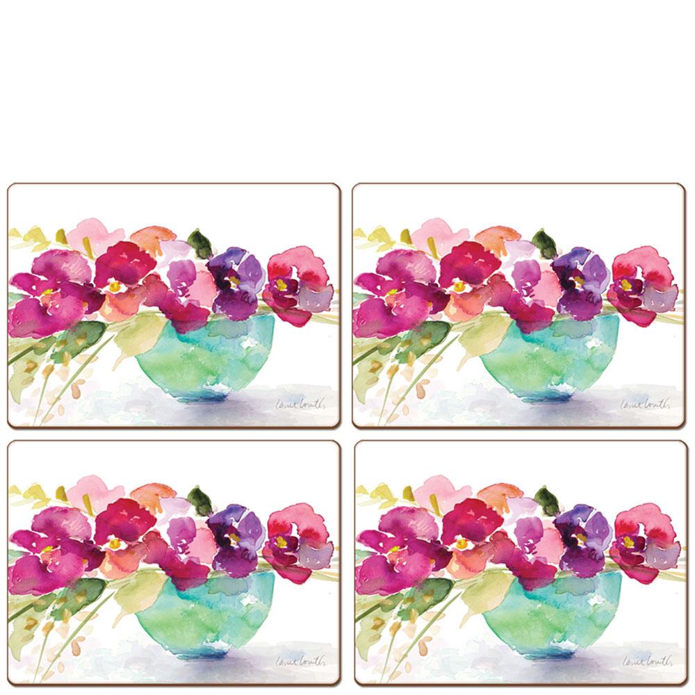 Набор подставок для сервировки Cala Home Bowl of Blooms 4шт