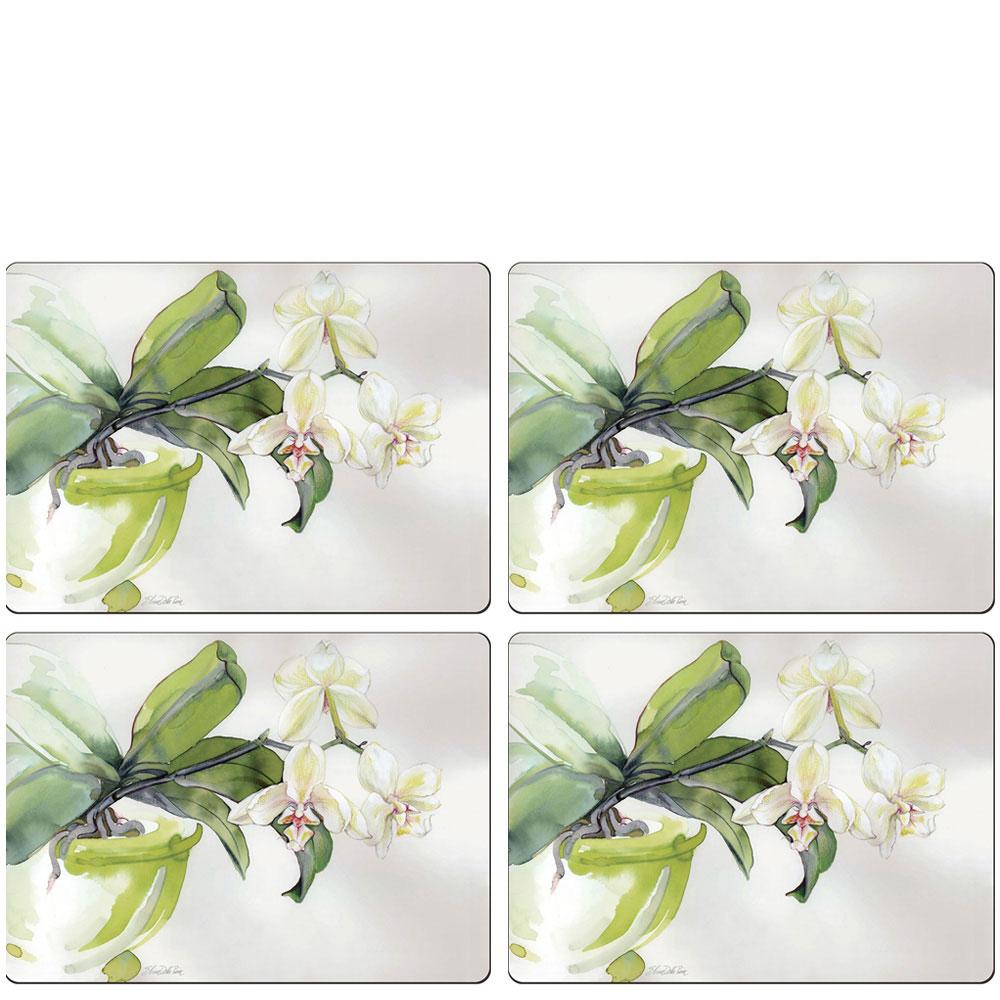 Набор ковриков для сервировки Cala Home White Orchid 4шт