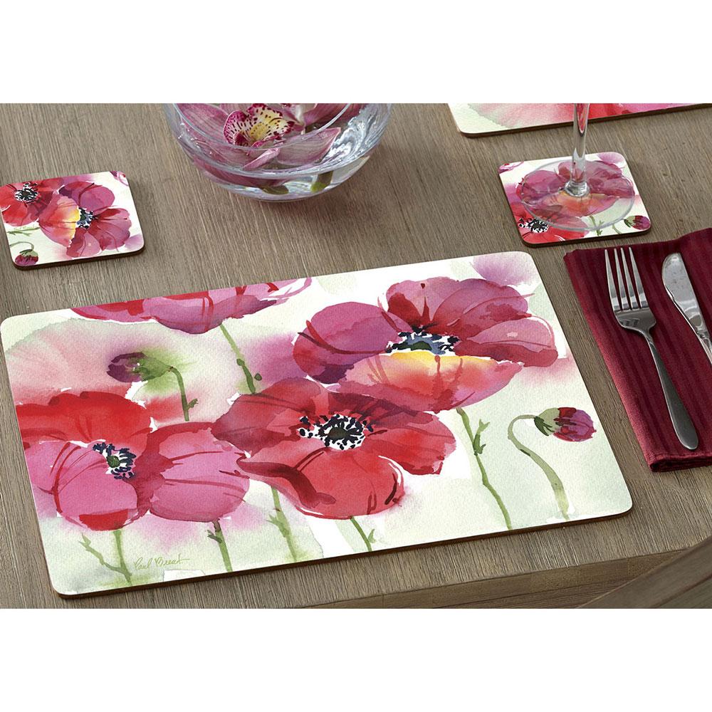 Коврики для сервировки Cala Home Fresh Poppies 4шт