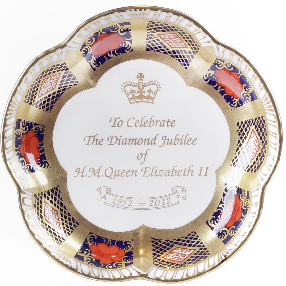Фарфоровое блюдце Royal Crown Derby Japan