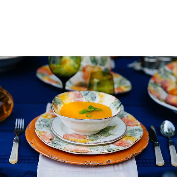 Керамическое блюдо Bizzirri Помпеи оранжевого цвета