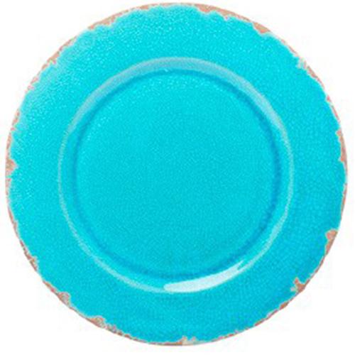 Керамическое блюдо Bizzirri Помпеи бирюзового цвета