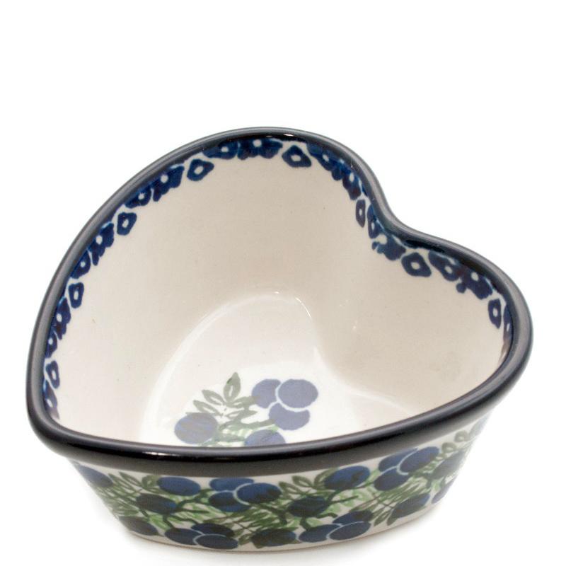 Пиала Ceramika Artystyczna Ягодная поляна в форме сердца