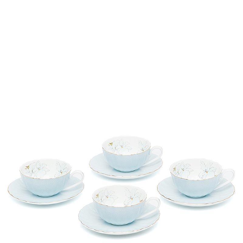 Чайный набор Pavone на четыре персоны София Блю голубой