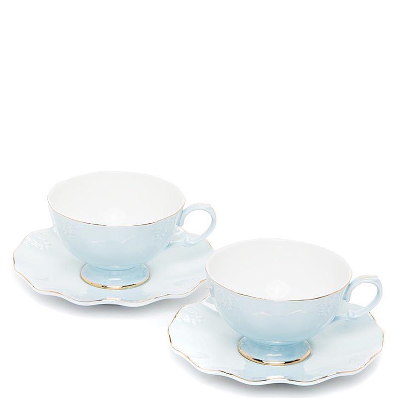 Чайный набор Pavone на две персоны Грациозо Блю голубой