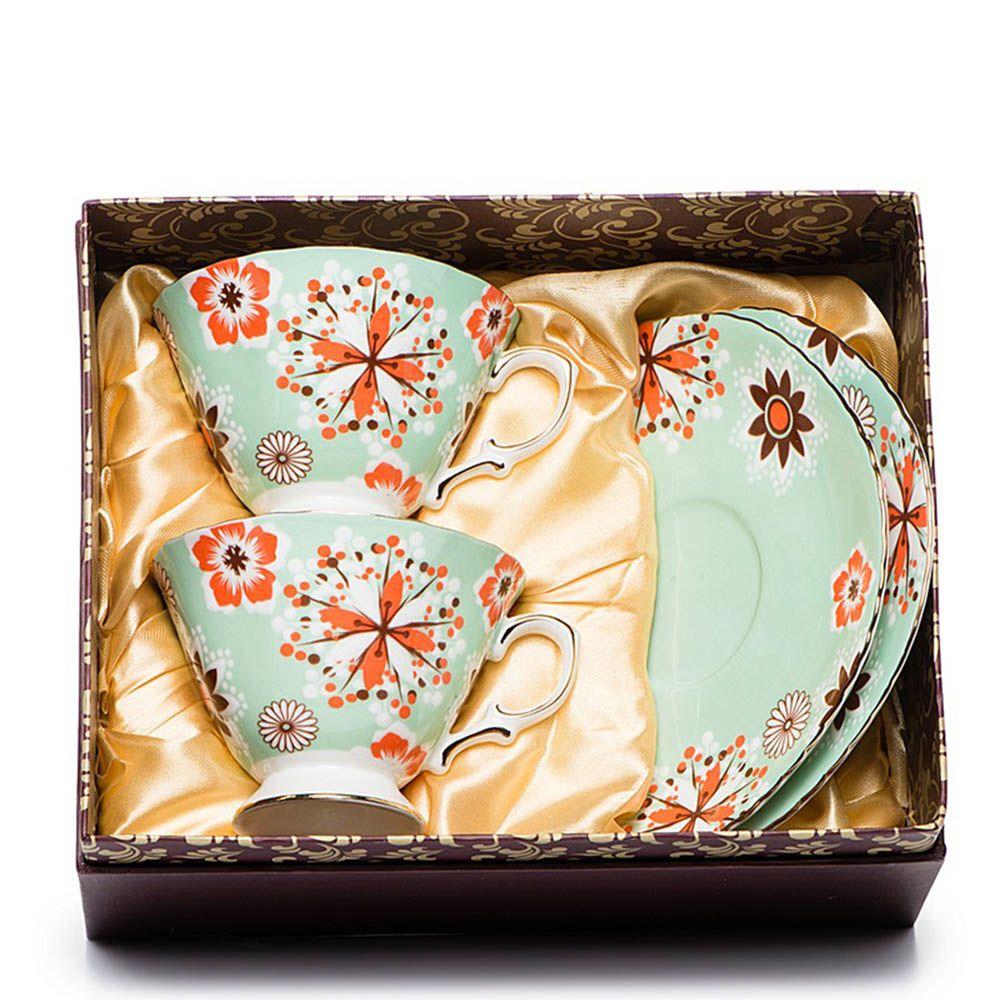 Чайный набор Pavone на две персоны Антонелла зеленый