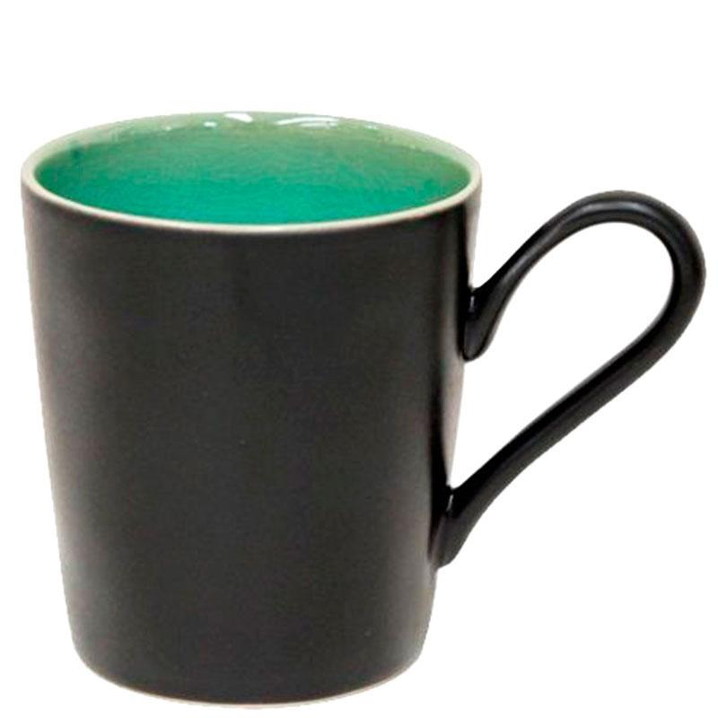 Чашка Costa Nova Riviera черная с бирюзовым