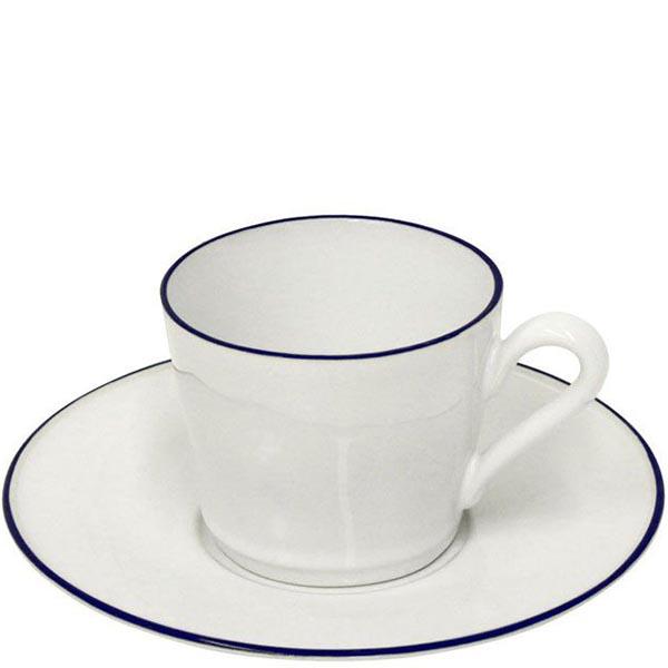 Набор из 6 чайных чашек с блюдцами Costa Nova Beja белого цвета
