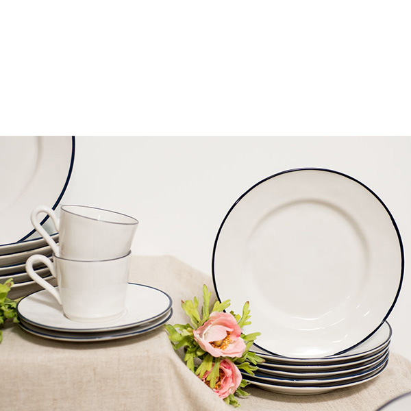 Набор из 6 тарелок для салата Costa Nova Beja белого цвета 23см
