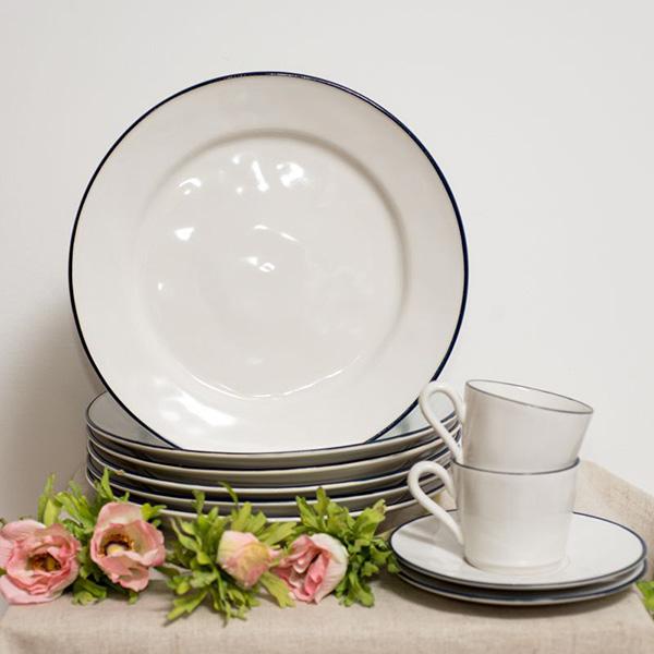 Набор из 6 тарелок Costa Nova Beja белого цвета 28см