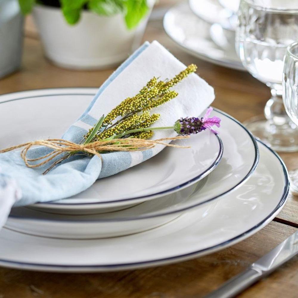 Блюдо белое с каймой Costa Nova Beja 33см