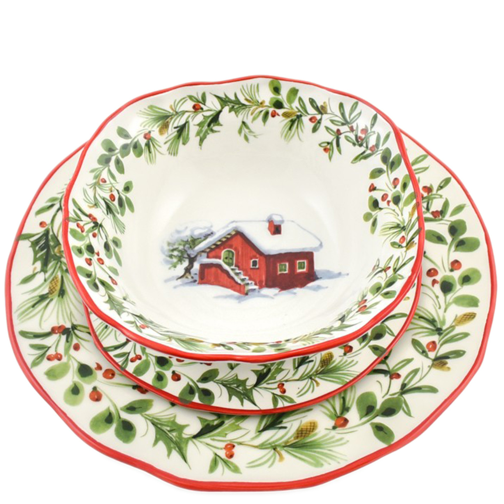 Набор обеденных тарелок Villa Grazia Лесная сказка на 6 персон