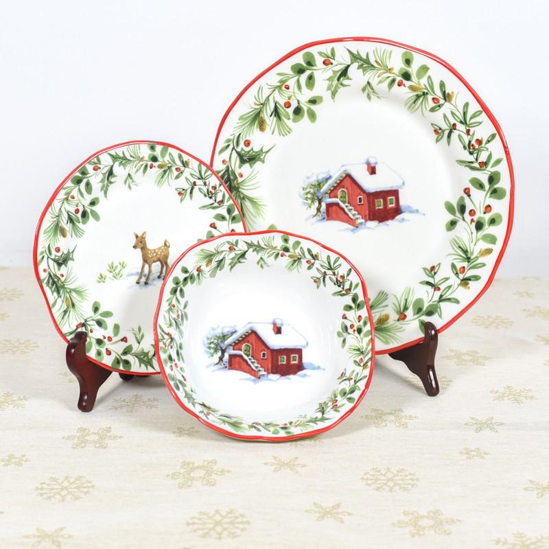 Набор тарелок для супа Villa Grazia Лесная сказка на 6 персон