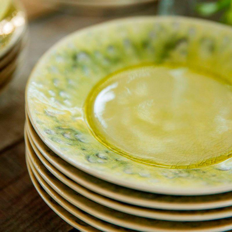 Десертная тарелка Costa Nova Madeira из керамики лимонного цвета