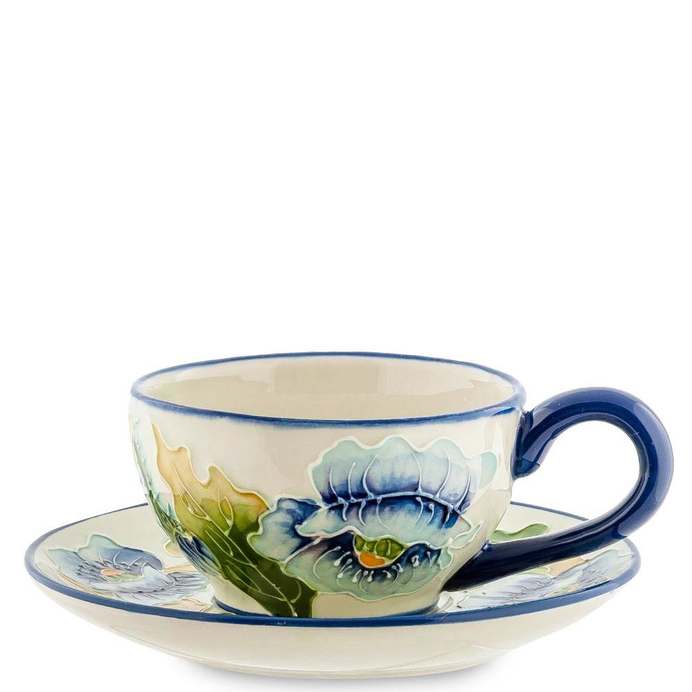 Чайная пара Pavone Голубые маки