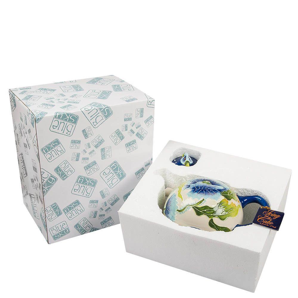Заварочный чайник Pavone Голубые маки