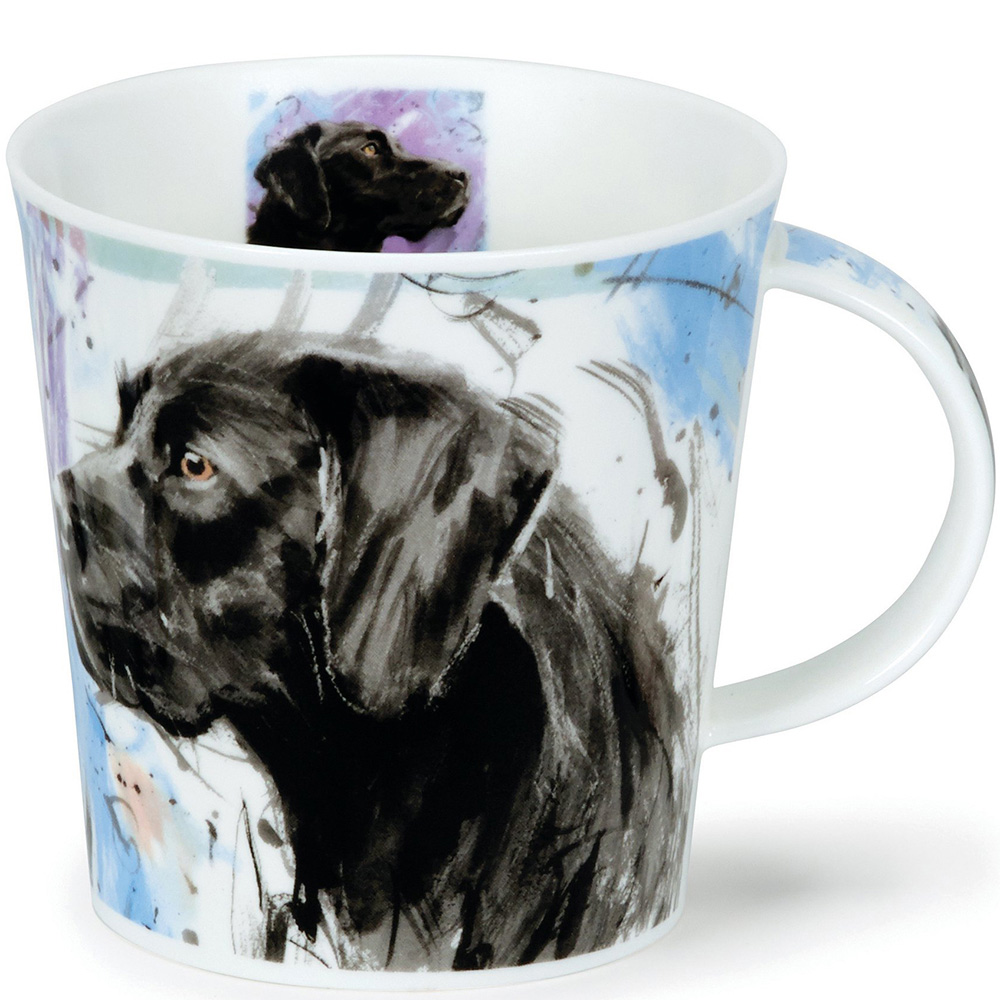 Чашка Dunoon Cairngorm Dogs on Canvas Labrador 0,48 л