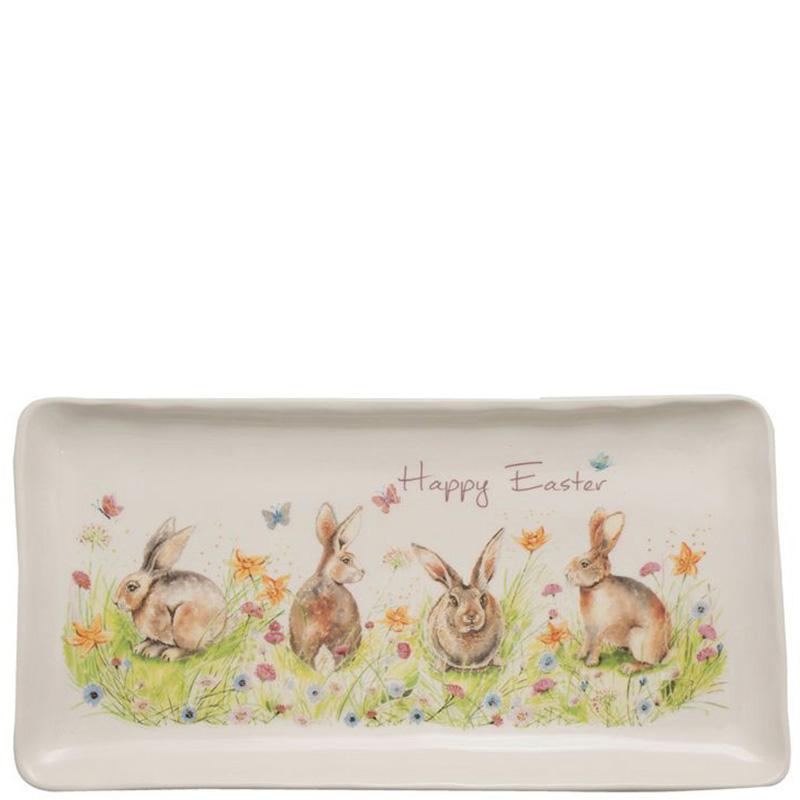 Блюдо пасхальное Ceramica Cuore Кроличья семейка
