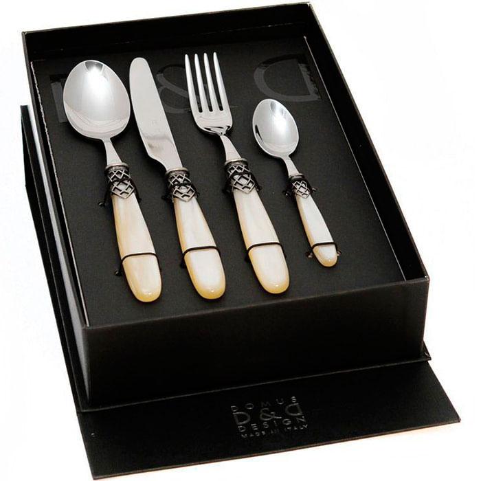 Набор столовых приборов на 6 персон Domus&Design Франция цвета айвори