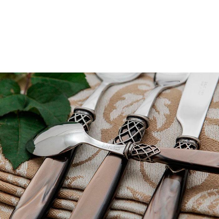 Набор столовых приборов на 6 персон Domus&Design Франция коричневого цвета