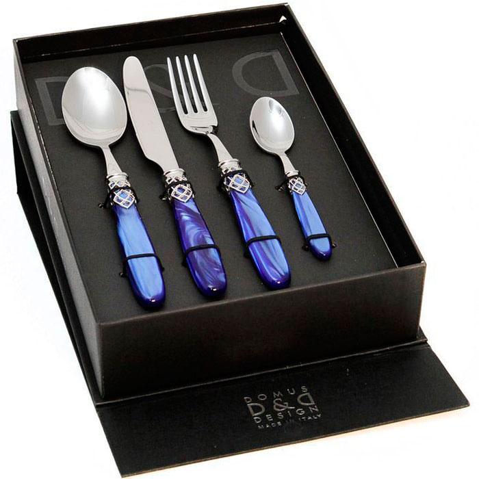 Набор столовых приборов на 6 персон Domus&Design Франция фиолетового цвета