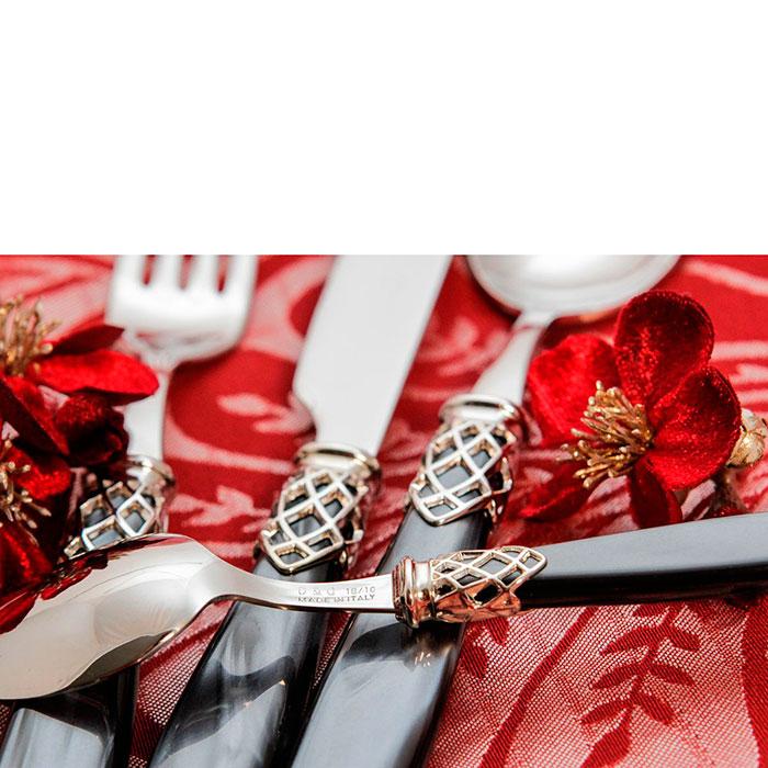 Набор столовых приборов на 6 персон Domus&Design Франция черного цвета