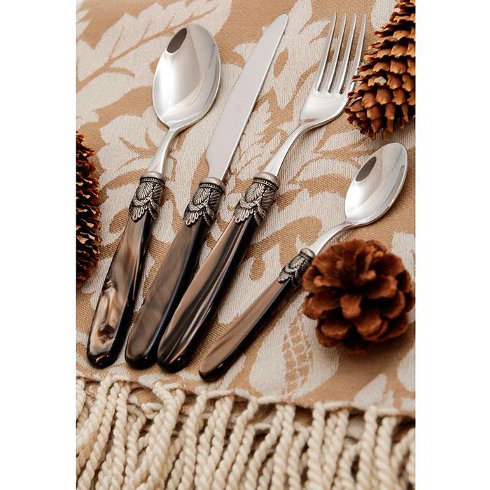 Набор столовых приборов на 6 персон Domus&Design Искья коричневого цвета